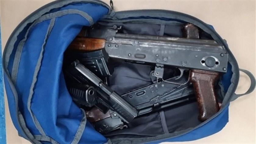 De gevonden vuurwapens