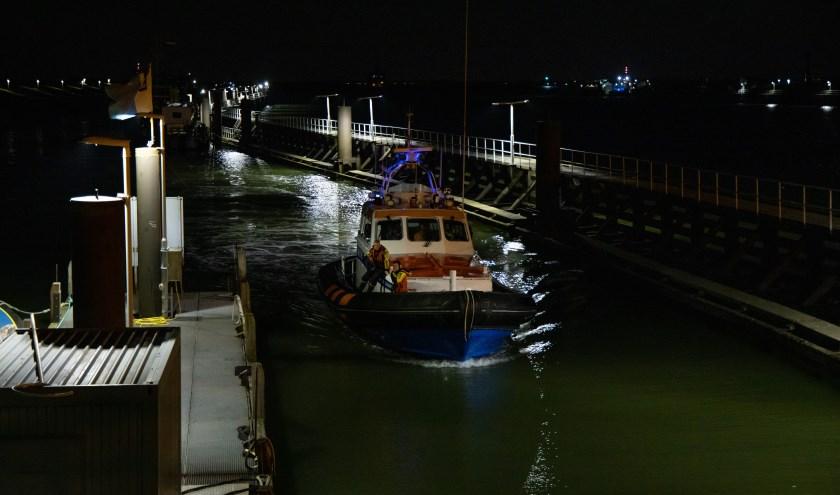 De boot heeft geassisteerd bij de reddingsactie.