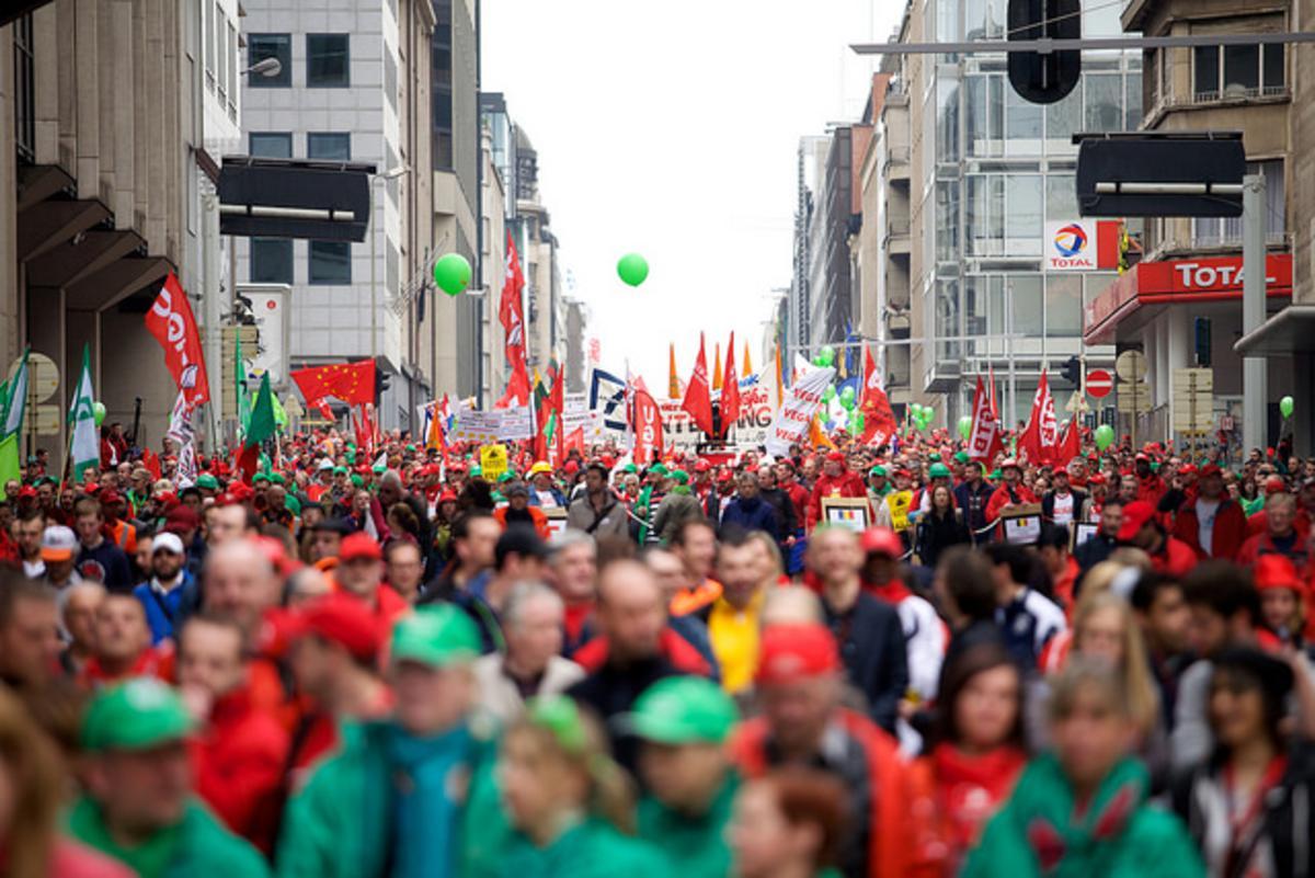 Demonstratie foto flickr