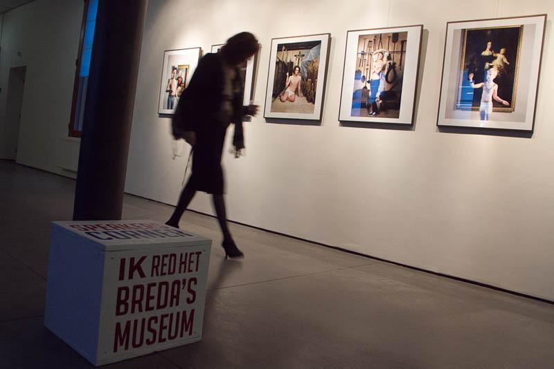 De actie 'Redt het Breda's Museum' werd donderdagavond goed bezocht. foto Jorgen Janssens