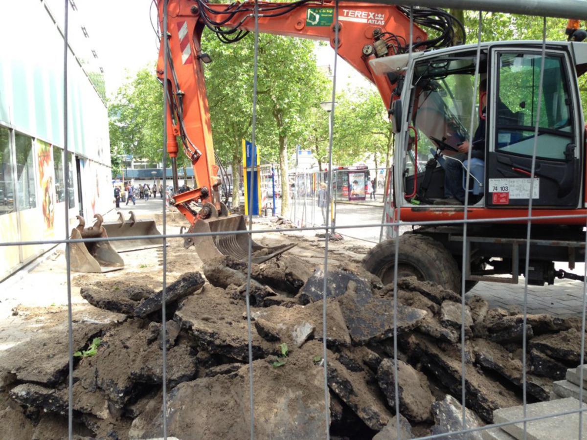 Archeologisch onderzoek station Breda. foto Wijnand Nijs
