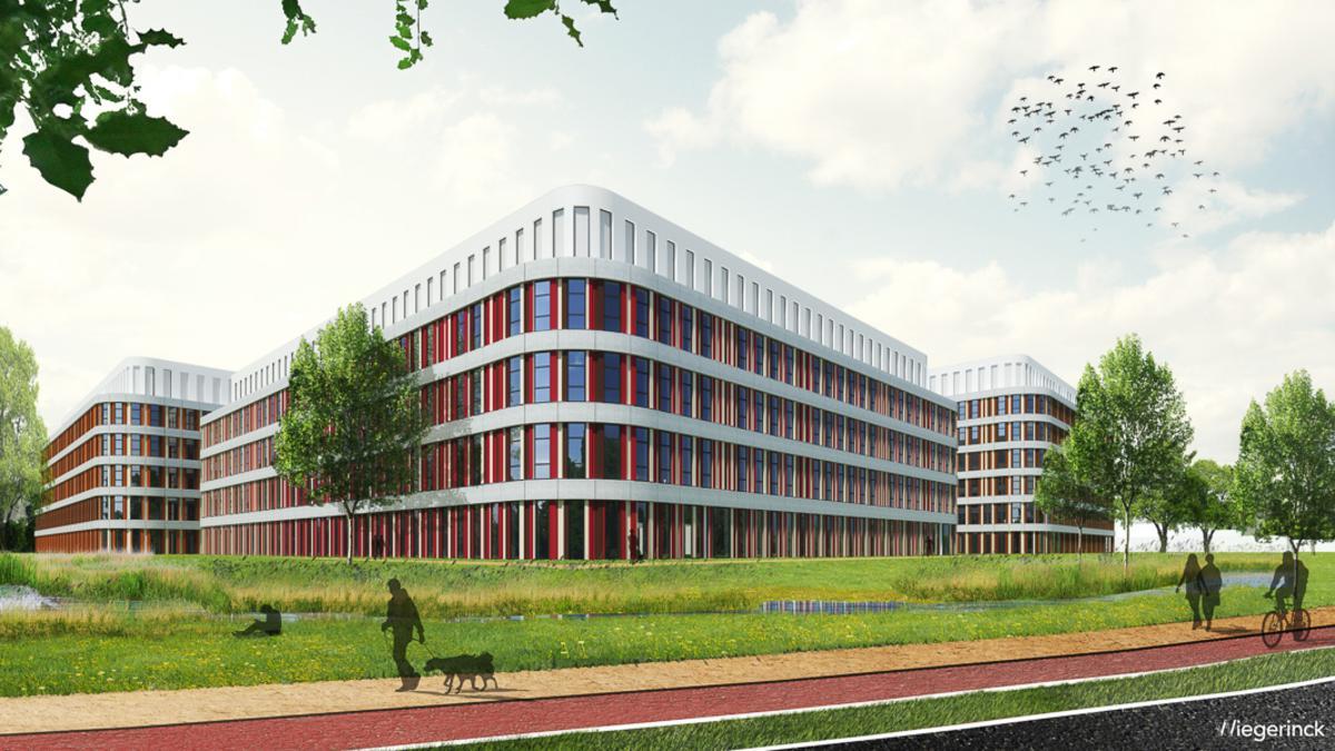 Amphia artist impressie van de nieuwbouw zoals die in 2019 gereed moet zijn.