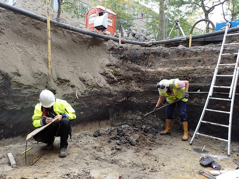 Archeologen onderzoeken de grond onder het Kasteelplein.