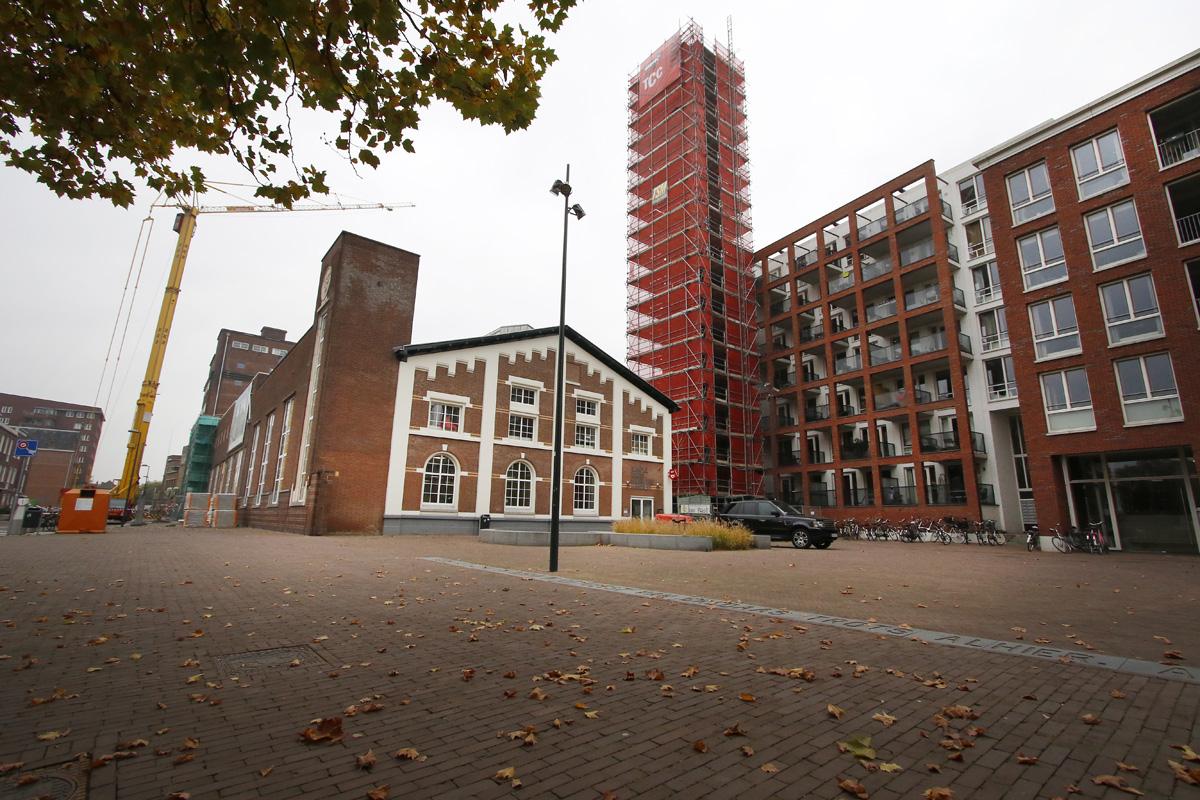 De transformatie van de brouwerij aan de Ceresstraat naar kantoren en woningen is in volle gang. Geplande oplevering is augustus 2016.