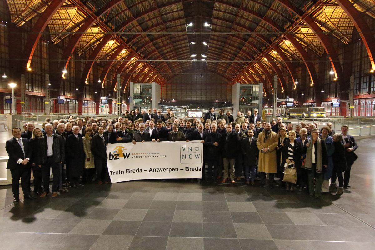 De BZW regelde voor dinsdag 10 januari 2017 een trein tussen Breda en Antwerpen. Daarmee wilde de werkgeversorganisatie een signaal afgeven naar Den Haag over het uitblijven van een trein over het HSL-spoor.