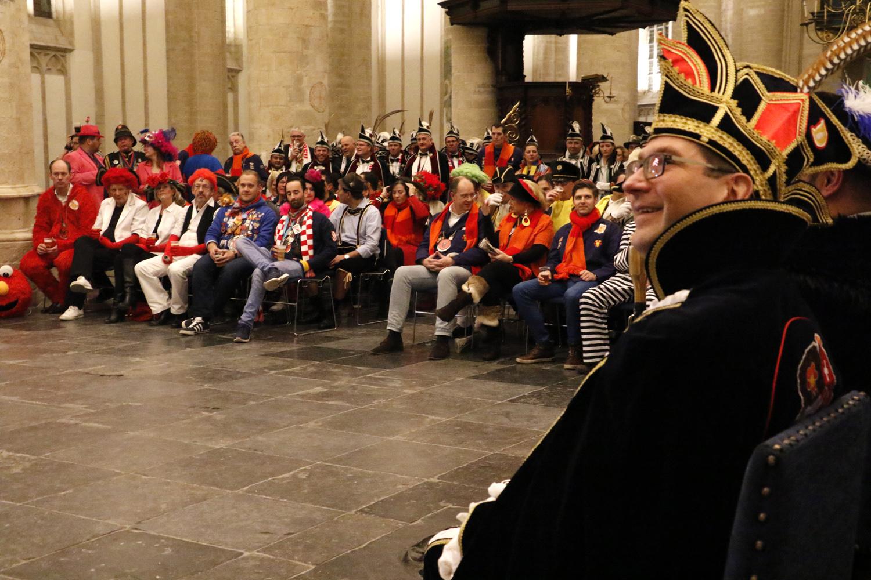 De carnavalsraad in de Grote Kerk, dinsdag 6 februari 2018.