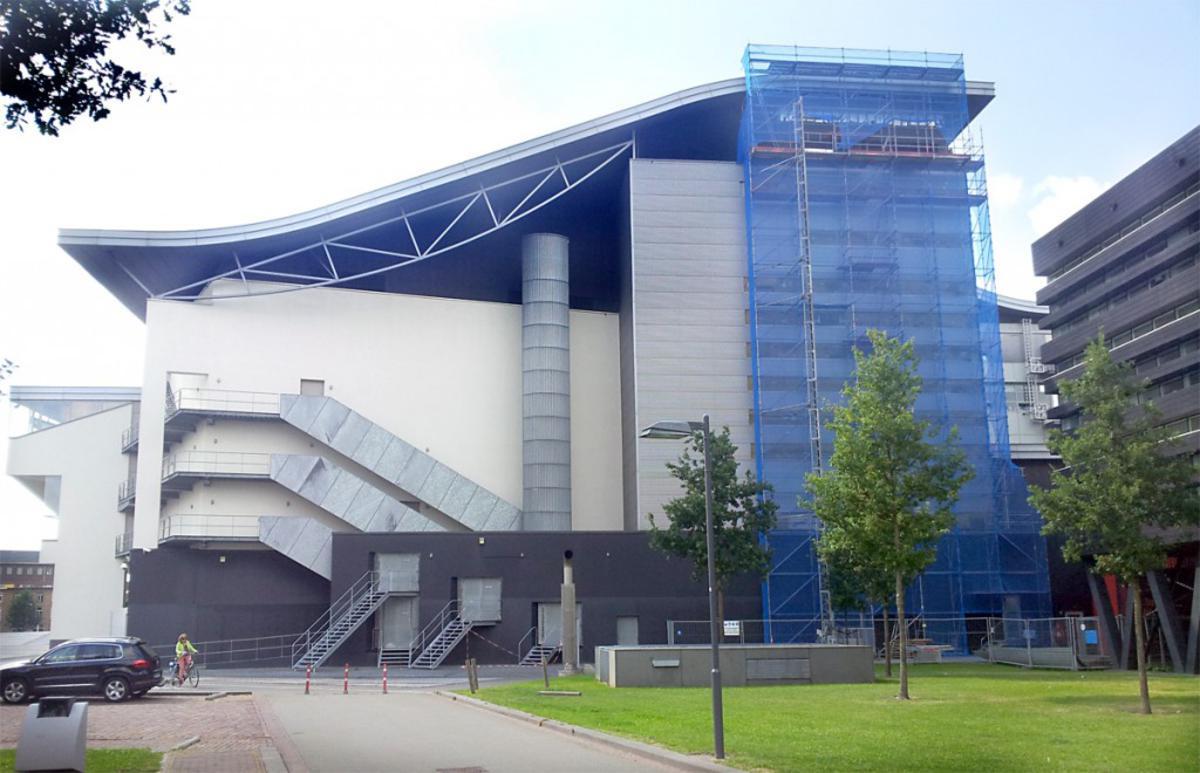 Aanleg van Warmte- en Koudeopslag bij het Chassé Theater. foto Freek de Swart