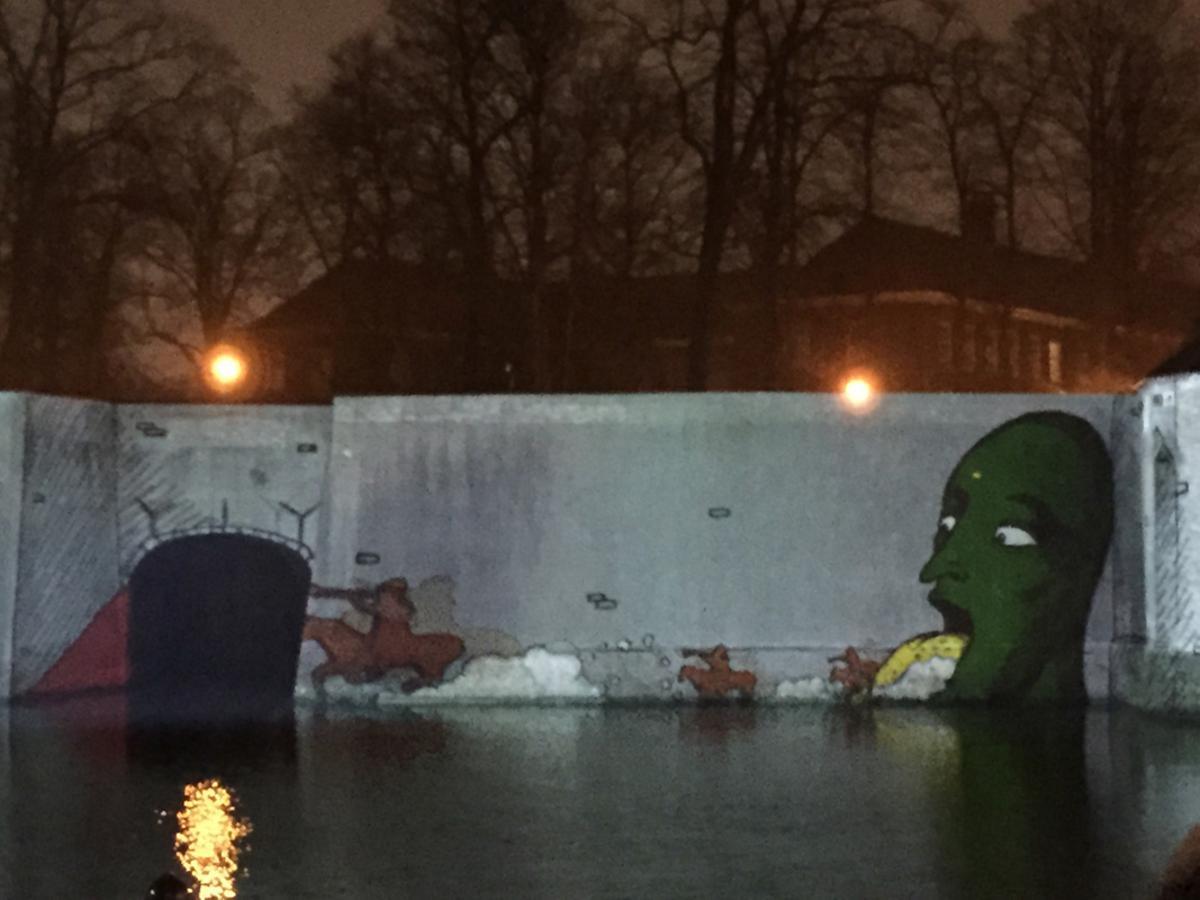 Cultuurnacht 2015: projectie Spanjaardsgat.