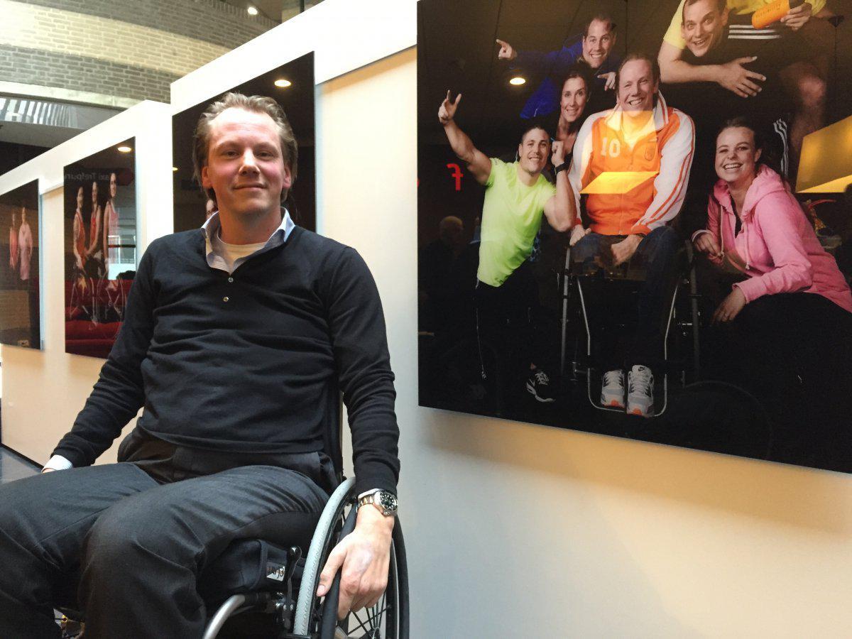 Daniel Boot doet mee aan de Wings for Life Worldrun in Breda.