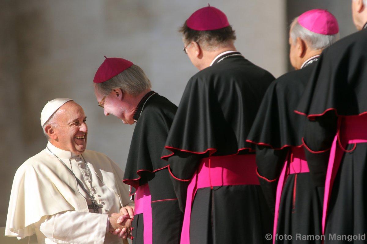 mgr De Korte op bezoek bij de paus.