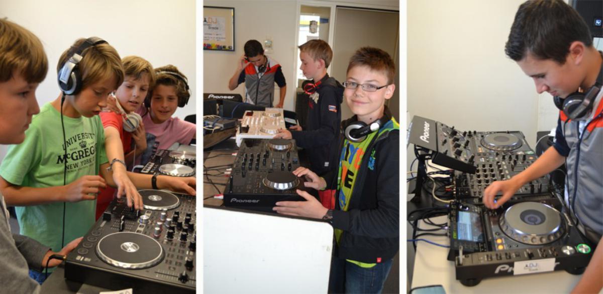 DJ School Breda in actie. foto's DJ School Breda