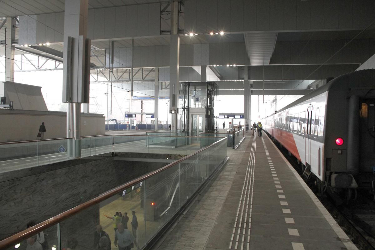 Breda Centraal, vertrek Intercity Direct.