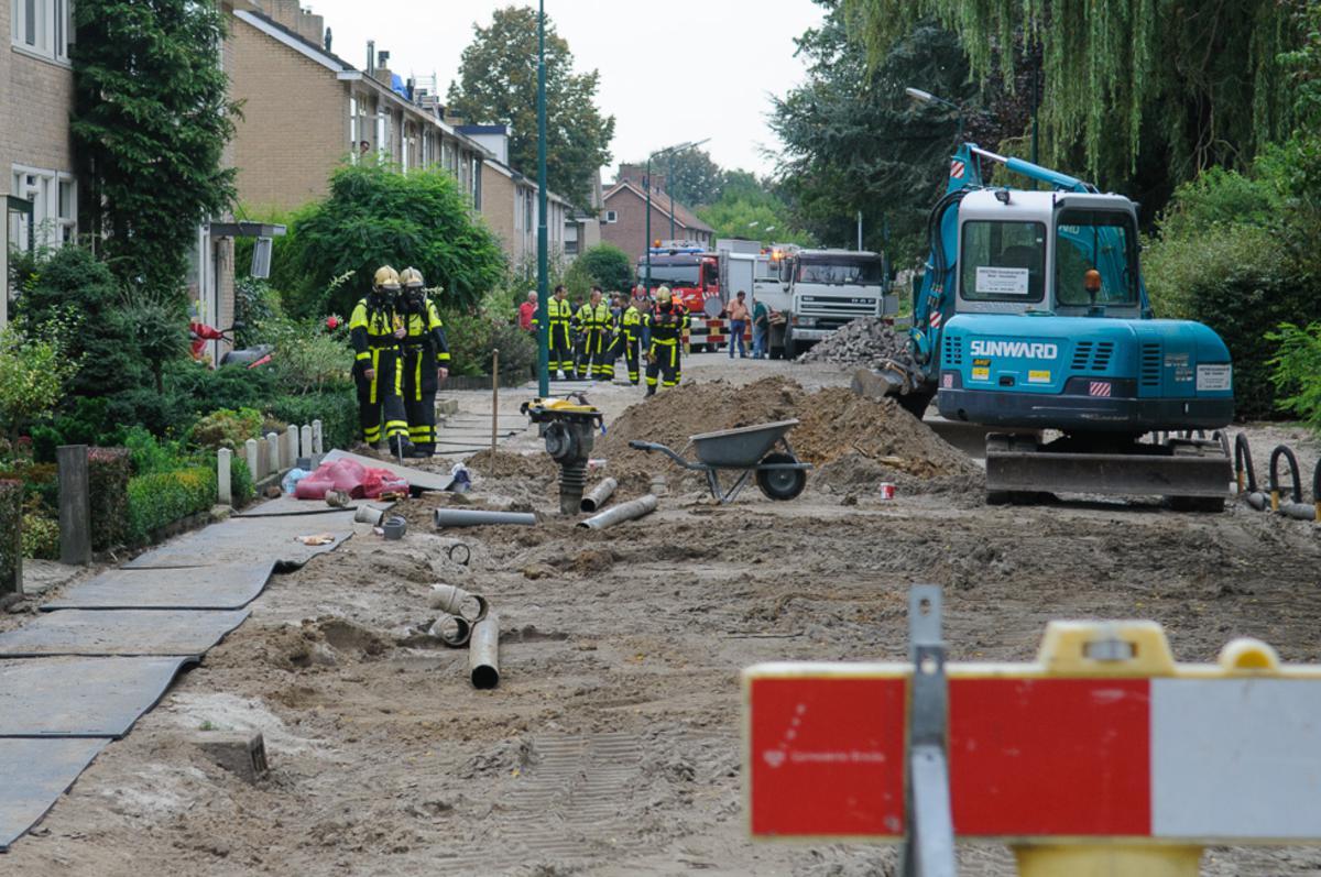 Afzettingen en tijdelijke ontruimingen vanwege een gaslek in Prinsenbeek.
