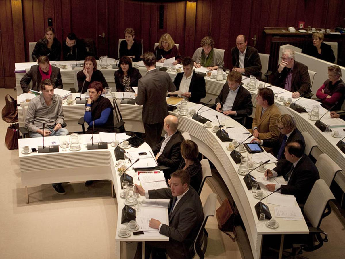 Gemeenteraadsvergadering. foto Ilse Lukken