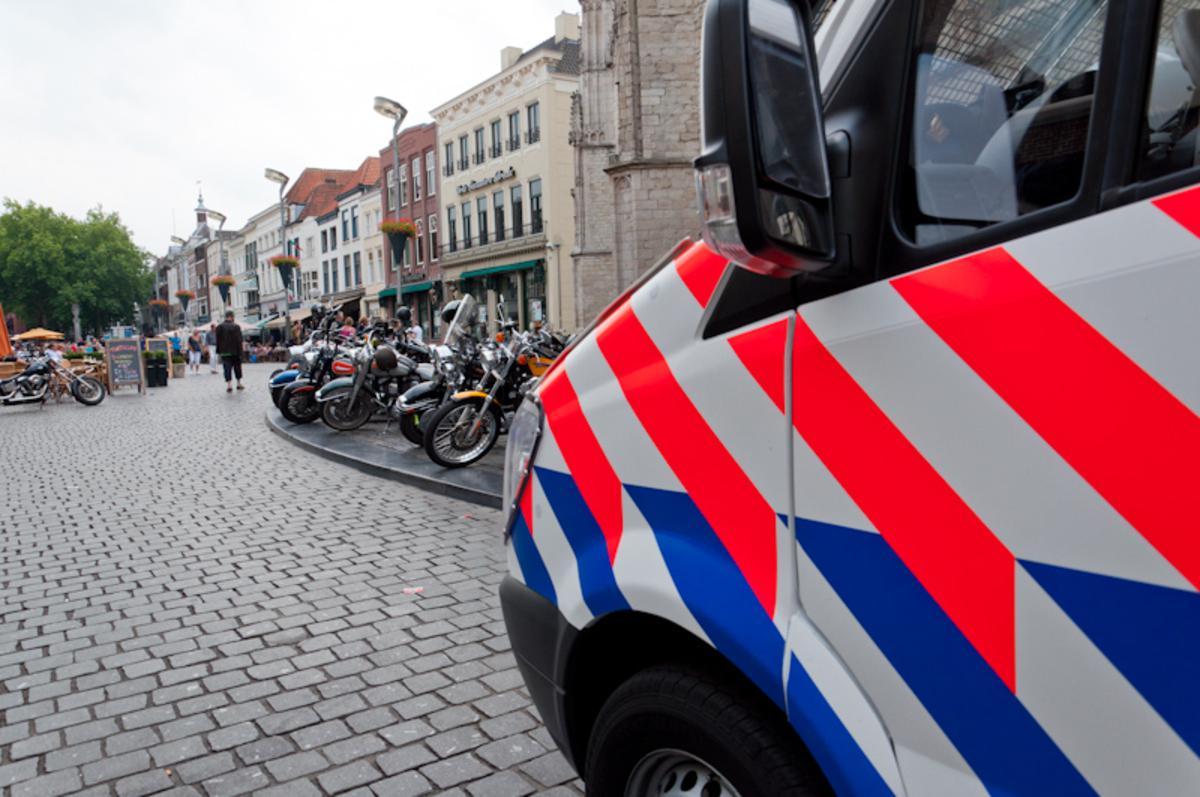 Geen officiële Harley Dag, wel Harleys. En veel politie in Breda. foto Thaddeuz