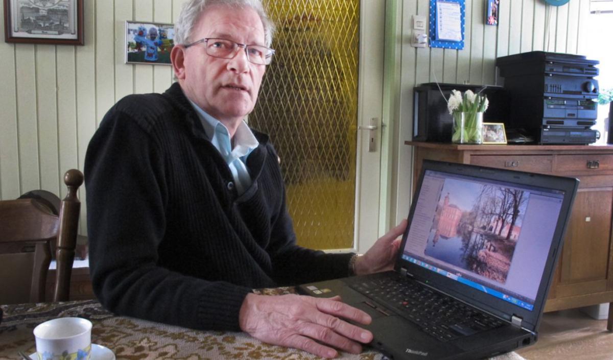Bredanaar Henk Voermans stuurt bijna dagelijks weerfoto's in naar de verschillende journaals. foto Wijnand Nijs