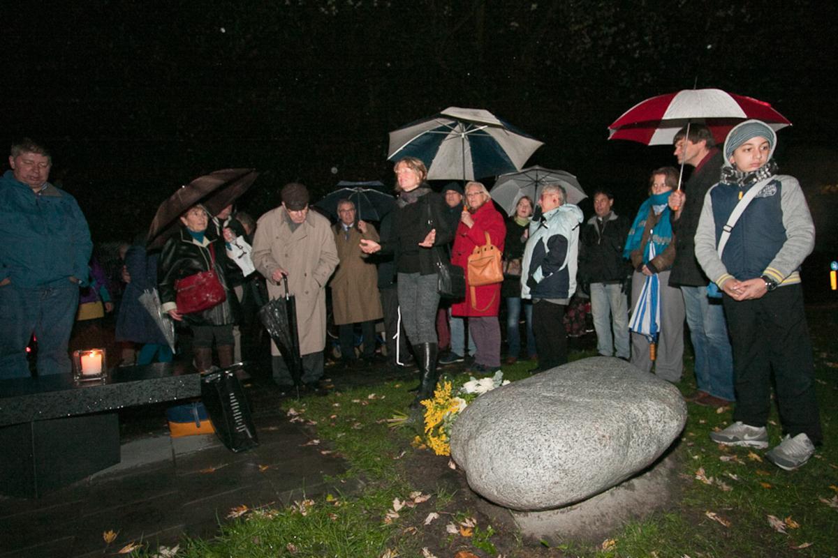 De herdenking van de Kristallnacht in Breda, zaterdag 9 november 2013. foto Jorgen Janssens