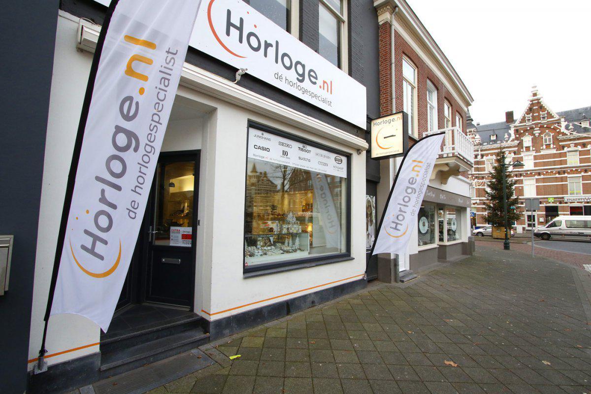 De winkel van Horloge.nl aan de Nieuwe Ginnekenstraat in Breda.