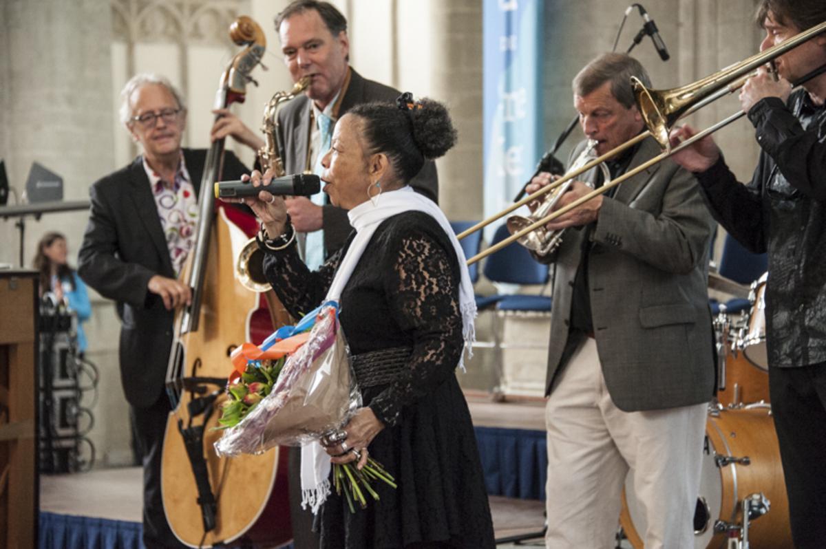 Lilian Boutté uit New Orleans zong de traditionele gospels in de Grote Kerk.
