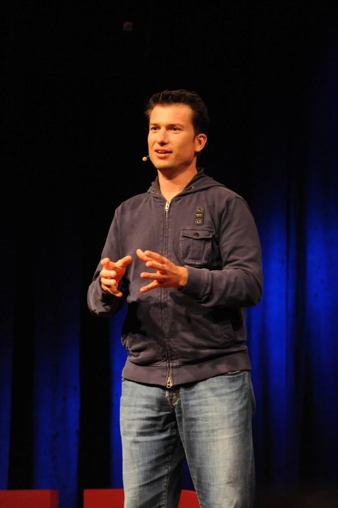 Jeroen van Glabbeek tijdens TEDxBreda. foto Ron Magielse