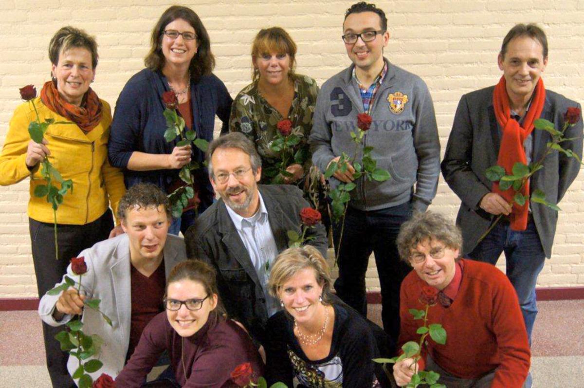 De kandidaten van de PvdA voor de raadsverkiezingen 2014.