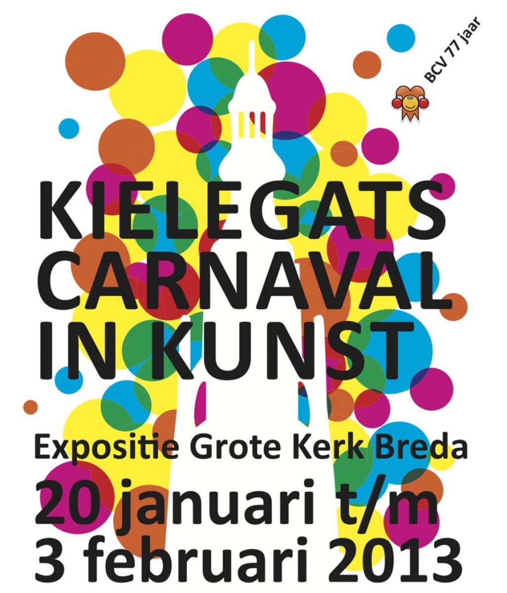 Poster voor de expositie Kielegats carnaval in Kunst.