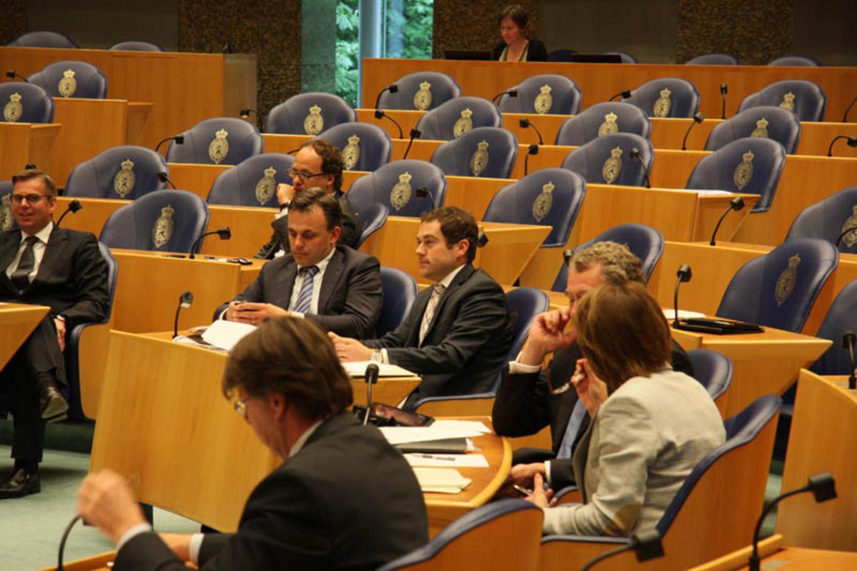 Debat Europa in Tweede Kamer. foto Erik Eggens