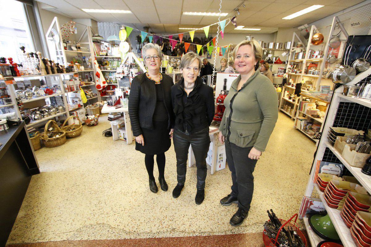 Karin, Trudy en Yvette van de Kookwinkel.
