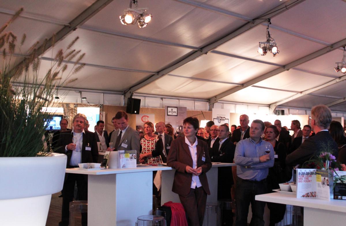 Eerste Linkedin Borrel bij Outdoor Brabant. foto Raymond Tilieu