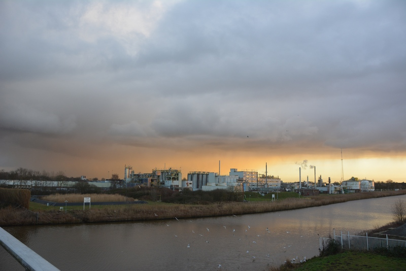 Winters getinte bui boven Breda