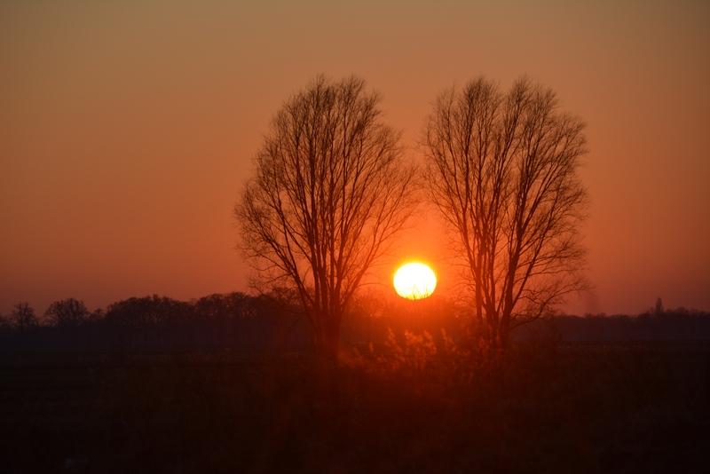 Zonsondergang Breda - Haagse Beemden