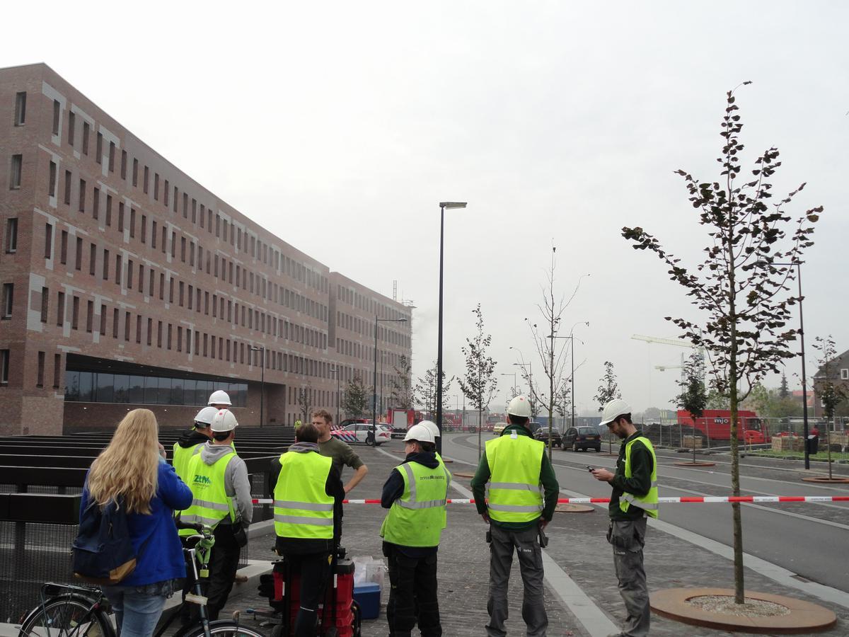 Brand Breda Centraal vanaf voorplein.