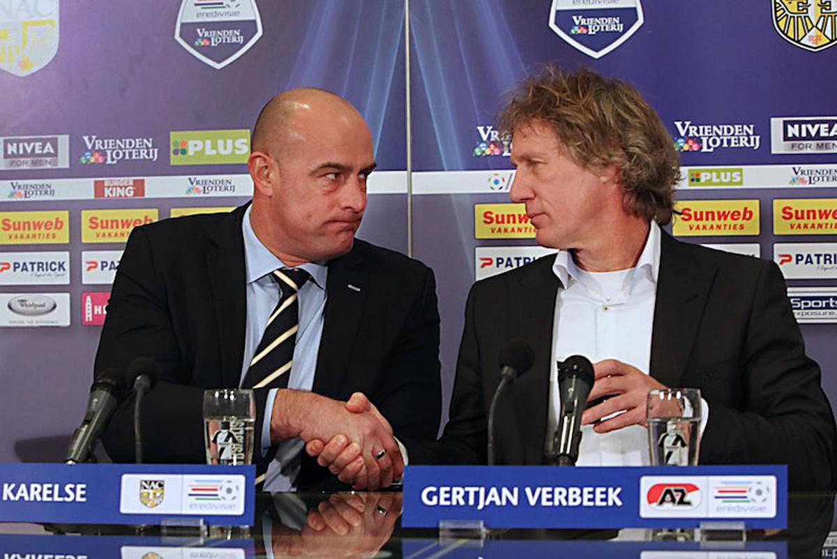 NAC Breda won zondagmiddag verrassend met 2-1 van winterkampioen AZ. foto Peter Visser
