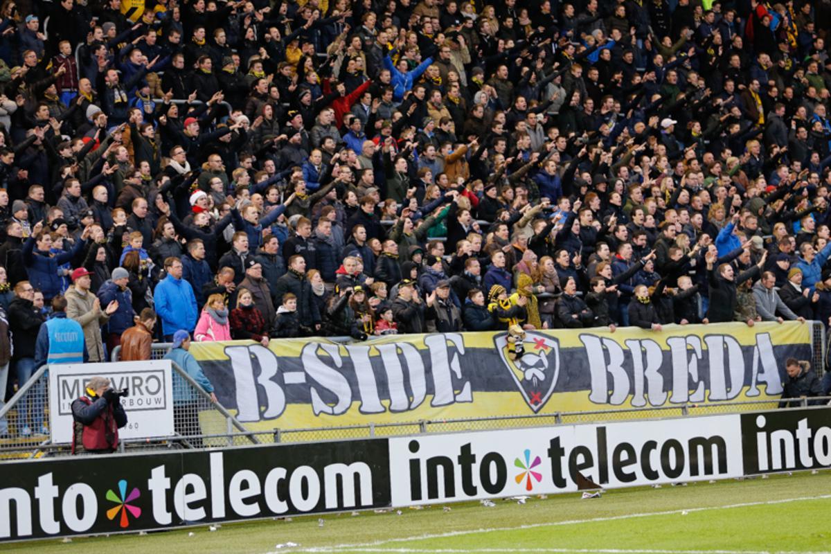 B-Side tijdens NAC-Feyenoord 2014, 0-1.