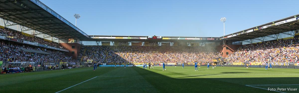 NAC wint met 1-0 van NEC tijdens de eerste wedstrijd in de finale van play-offs om een plek in de eredivisie.