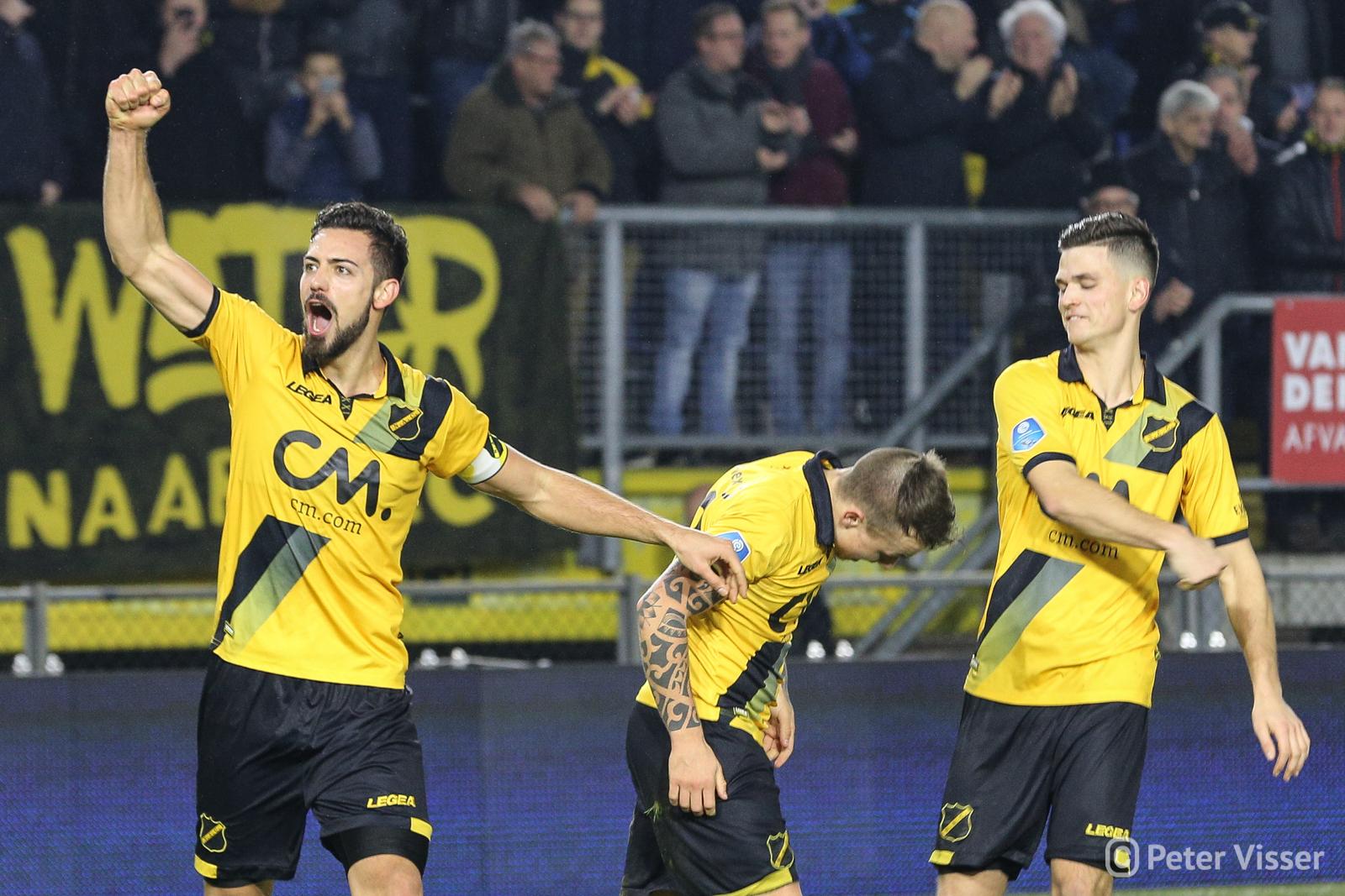 NAC heeft de laatste thuiswedstrijd voor de winterstop met 3-1 gewonnen van FC Utrecht.