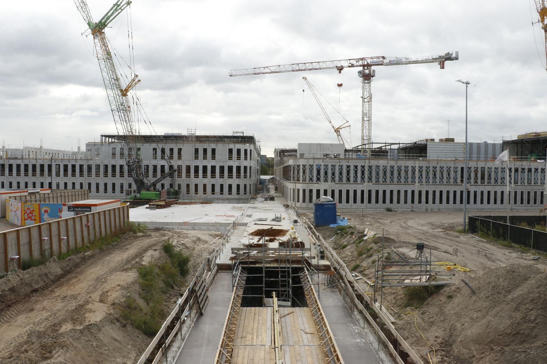 De stand van de nieuwbouw van het Amphia, augustus 2017.