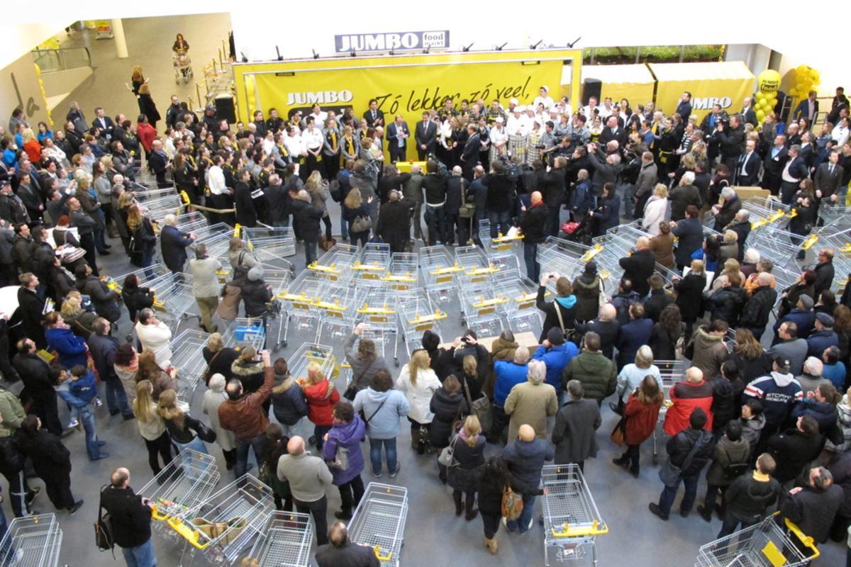 Jumbo opent een nieuw concept in Breda: de eerste Foodmarkt van Nederland, 6000 vierkante meter groot. foto Wijnand Nijs