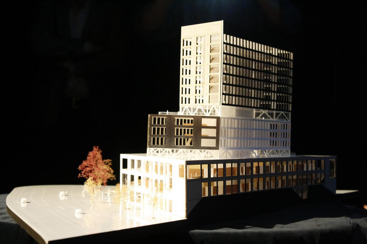 De presentatie van het nieuwe gerechtsgebouw in Breda.
