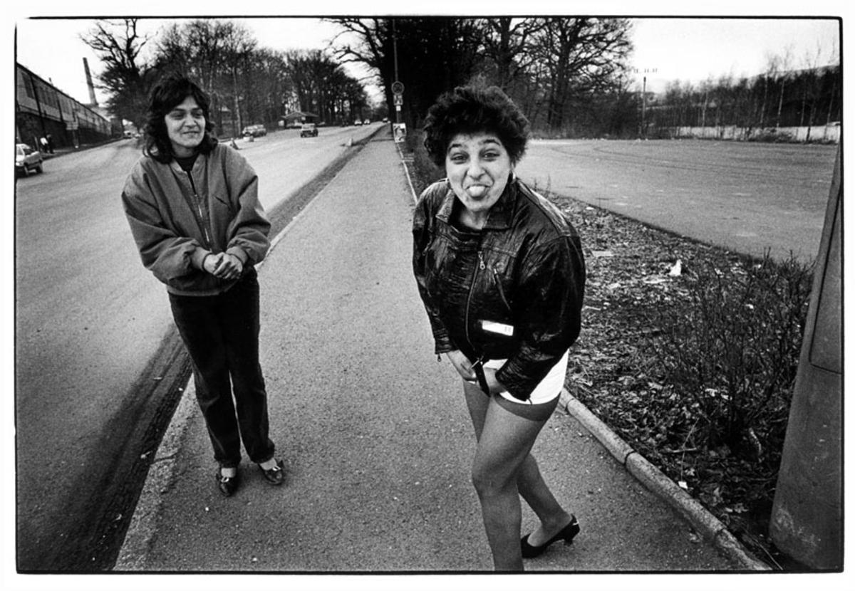 Prostituees op de Duits-Tsjechische grens. foto Piet den Blanken