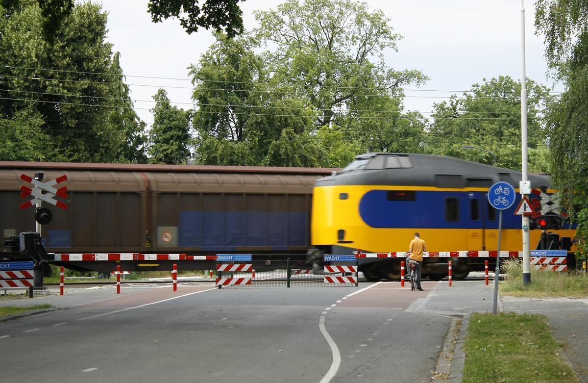 Spoorwegovergang Oosterhoutseweg juli 2014. foto Wijnand Nijs
