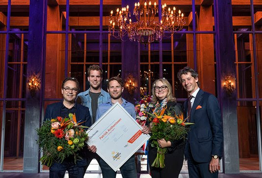v.l.n.r.: Fred Boot, Wijnand Speelman, Patrick Anthonissen, Karna Hazelhoff Roelfzema, Peter Douwes.