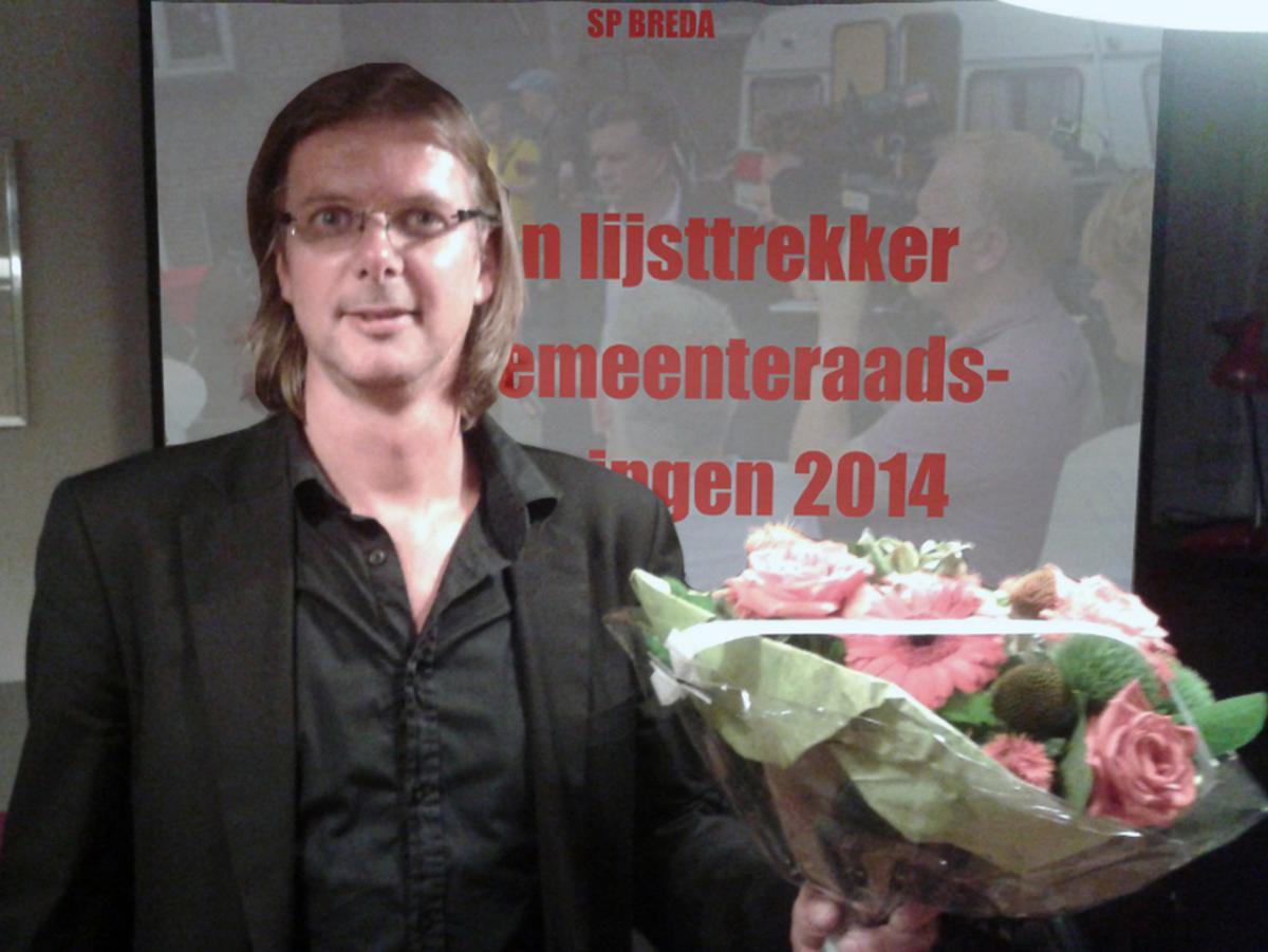 Patrick van Lunteren is gekozen als lijstrekker voor de gemeenteraadsverkiezingen 2014, namens de SP. foto SP