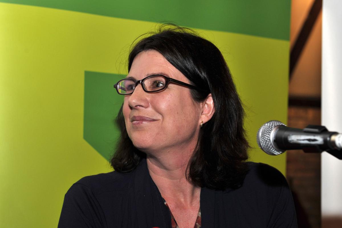 Politici in debat in De Koe in Princenhage: Miriam Haagh. foto Janet Olde Wolbers