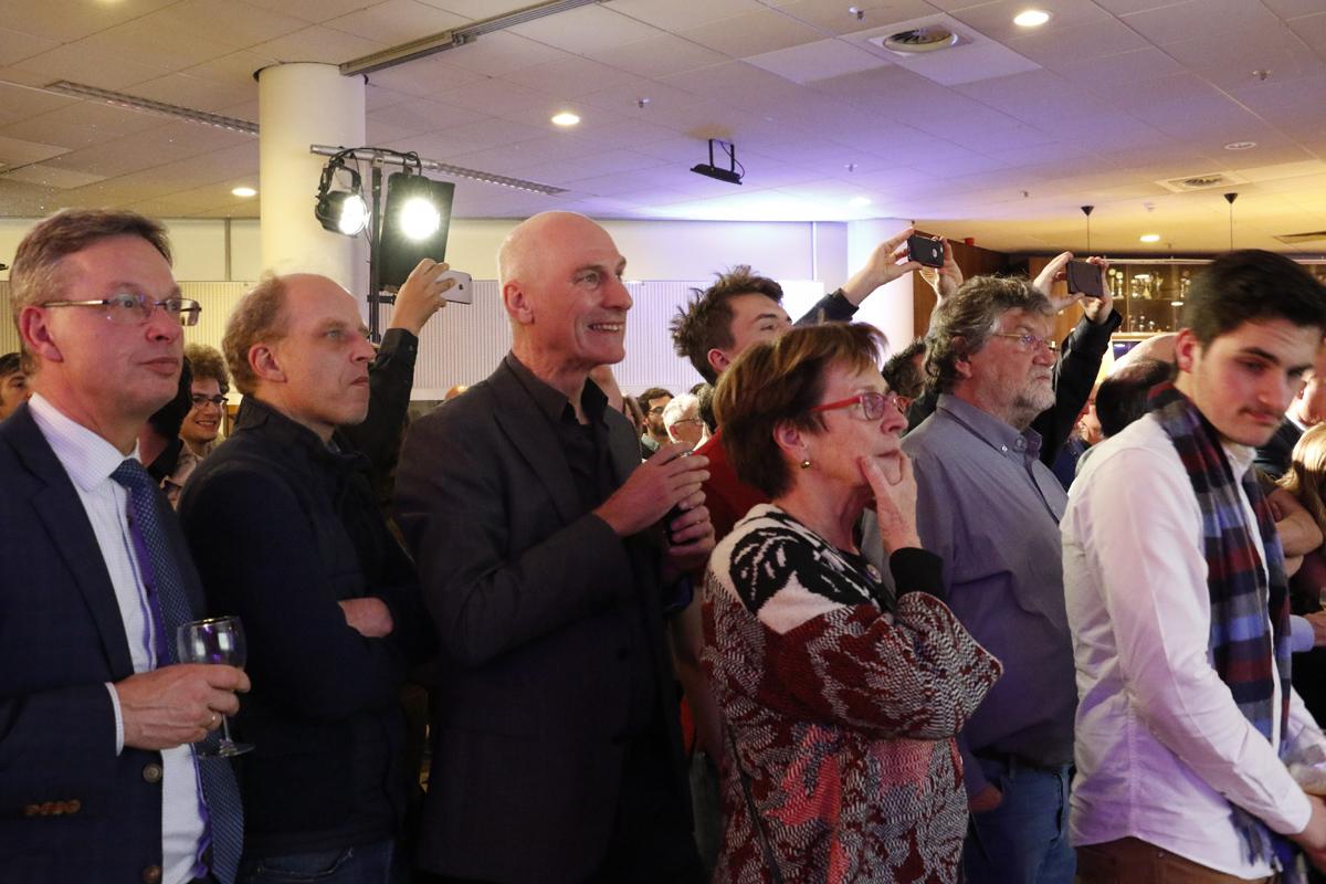 De uitslagenavond van de raadsverkiezingen op 21 maart 2018.