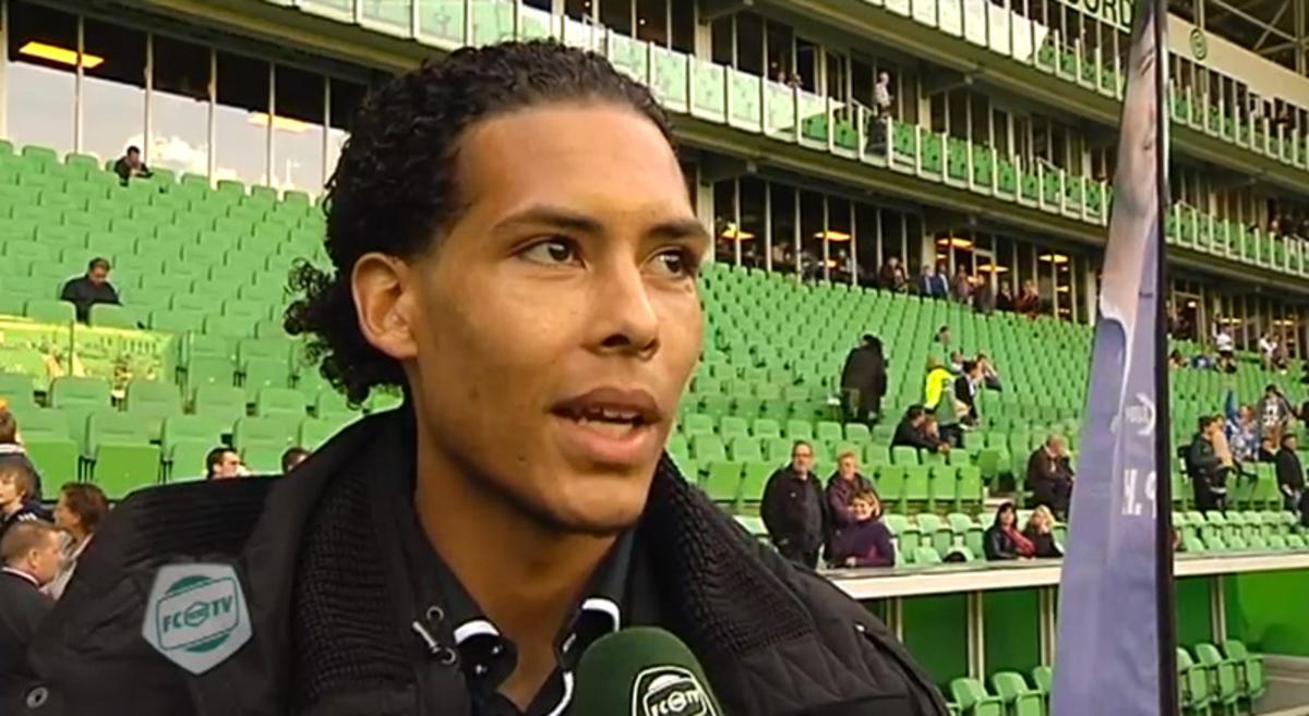 Virgil van Dijk. beeld Youtube/FC Groningen TV.