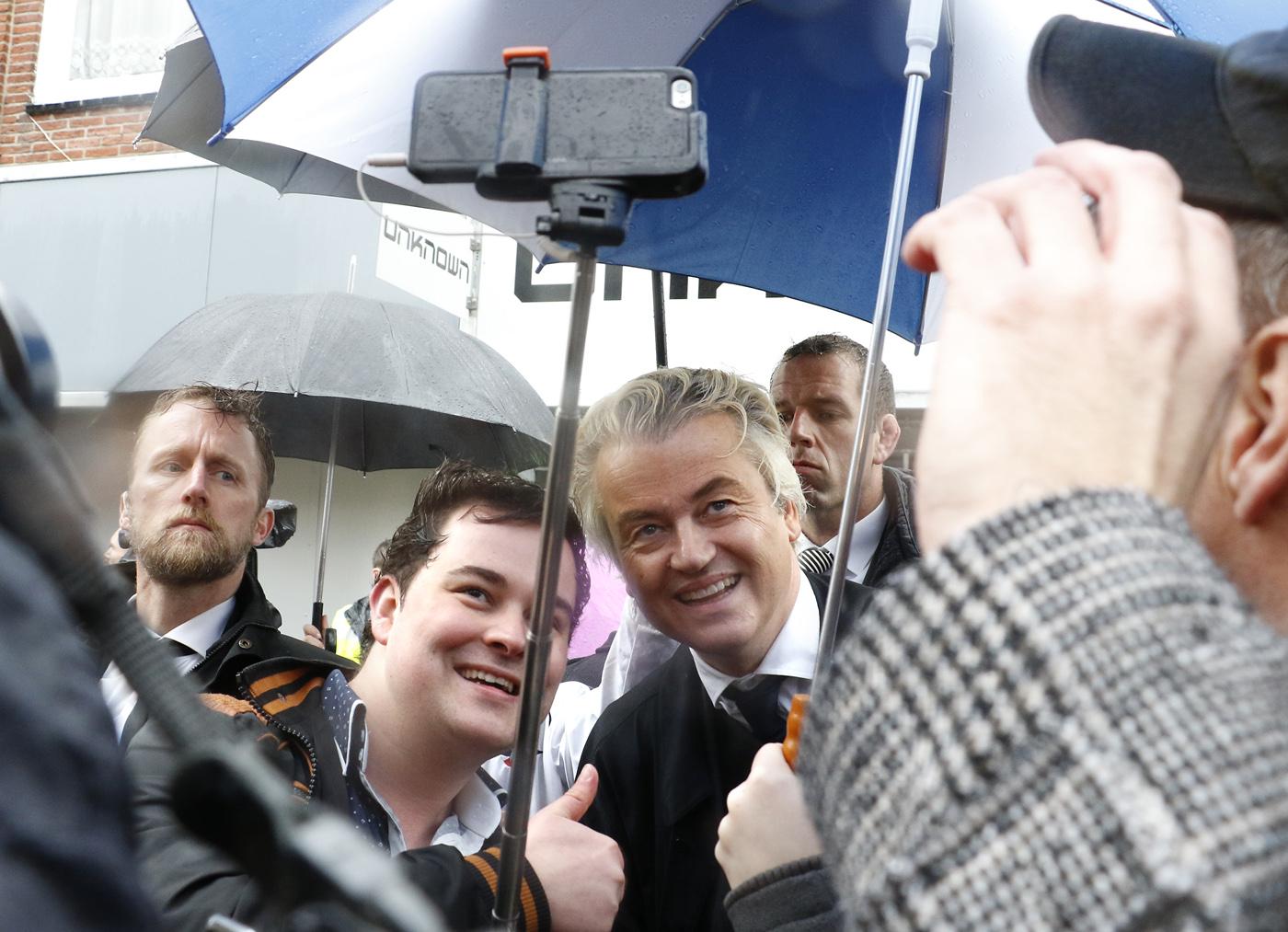 Campagnebezoek Geert Wilders aan Breda, woensdag 8 maart 2017.