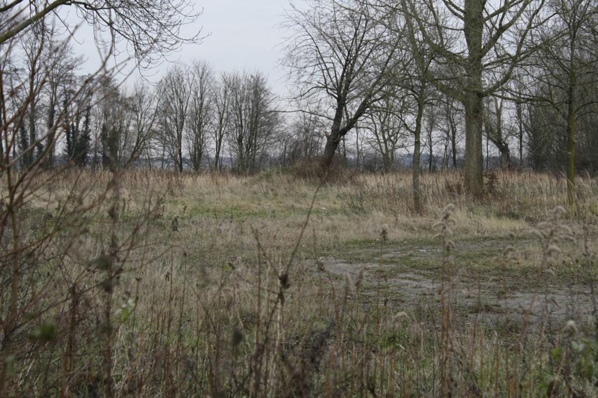 Het Wisselslagterrein waar nu plannen zijn voor dertig woningen. foto Wijnand Nijs