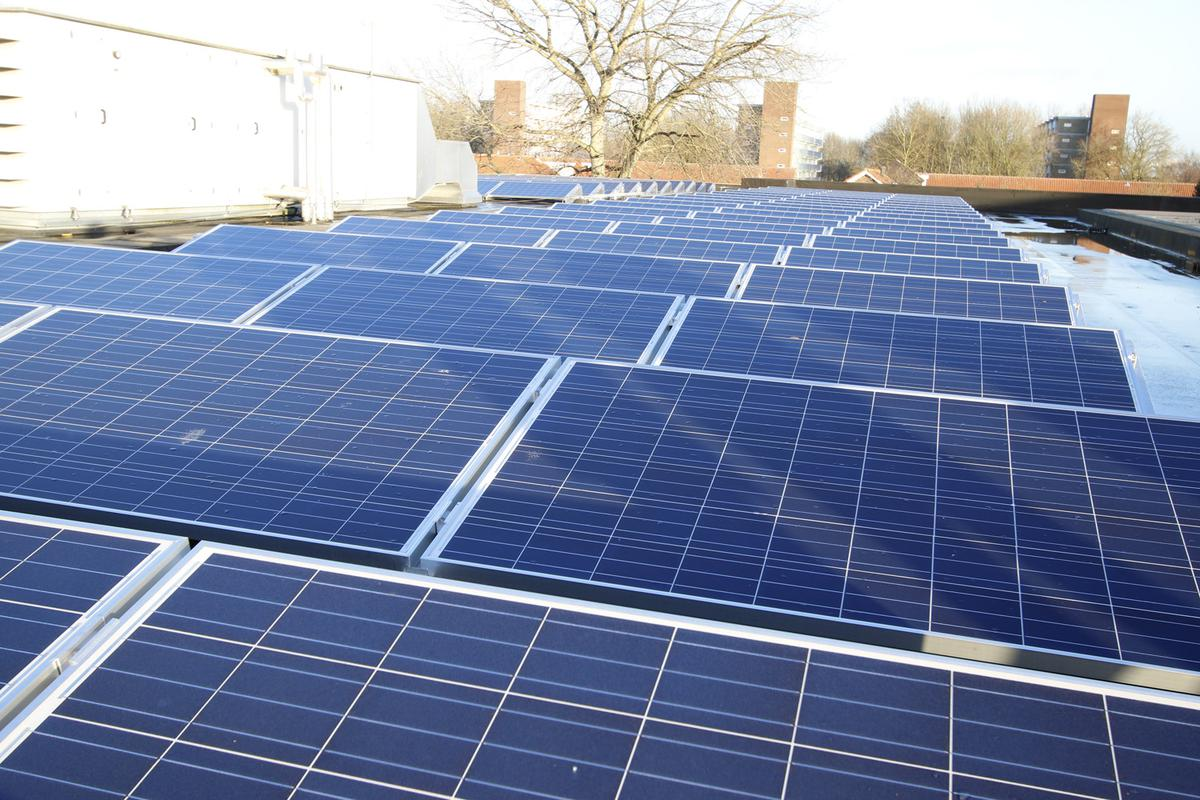 Op het dak van basisschool Noorderlicht liggen sinds begin 2016 160 zonnepanelen.