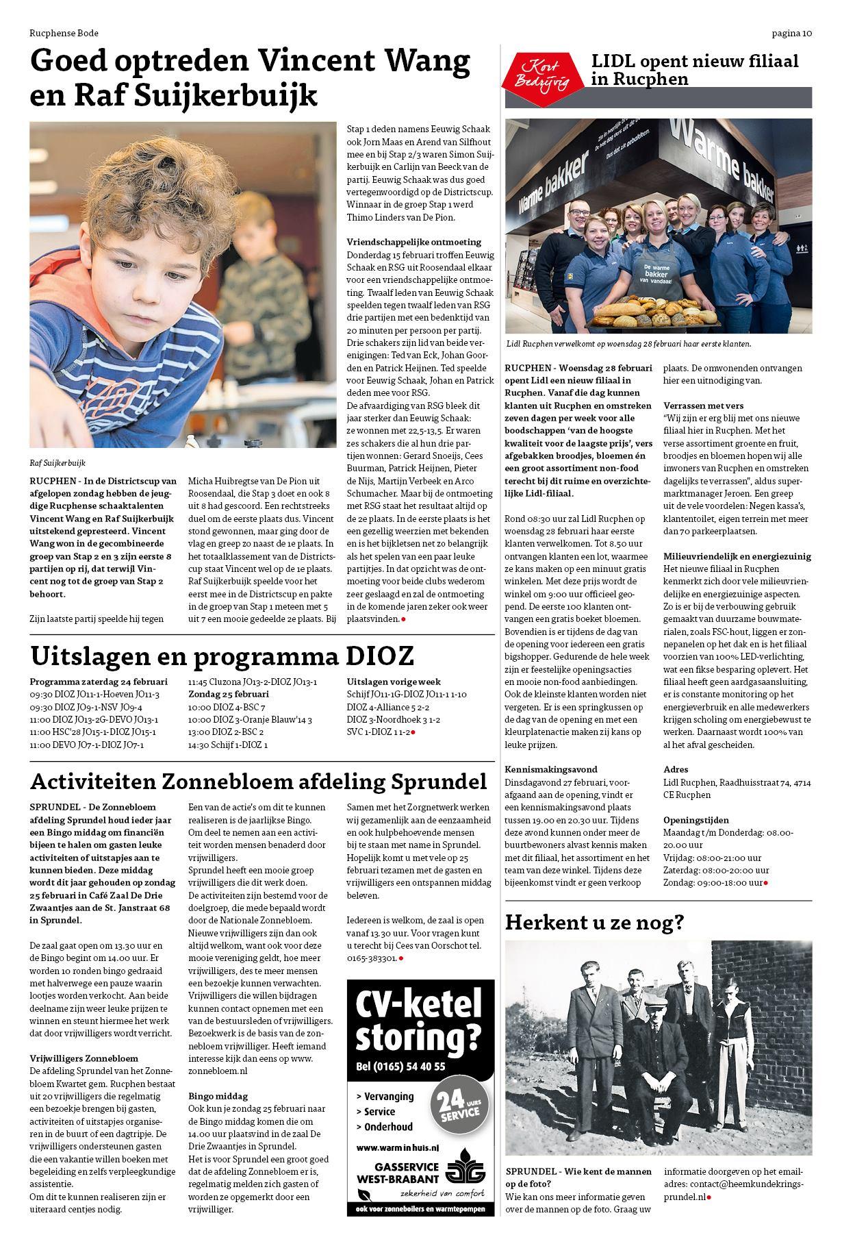 Rucphense Bode - LIDL opent nieuw filiaal in Rucphen